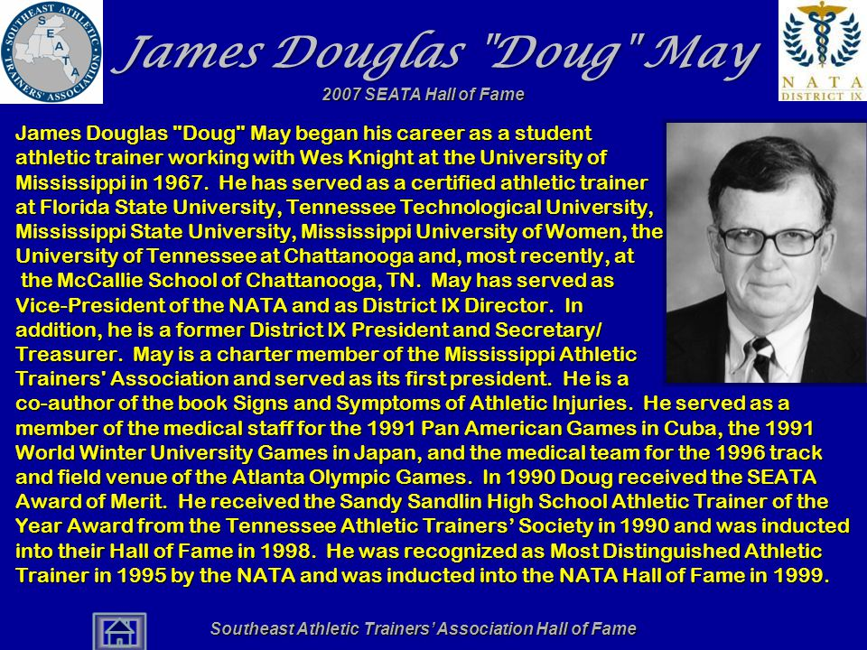 Southeast Athletic Trainers' Association Hall of Fame James Douglas