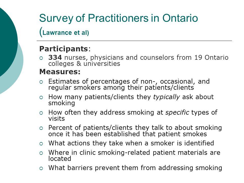 Concordia Census of Health Professionals 1.Are you a: Physician/Nurse 2.