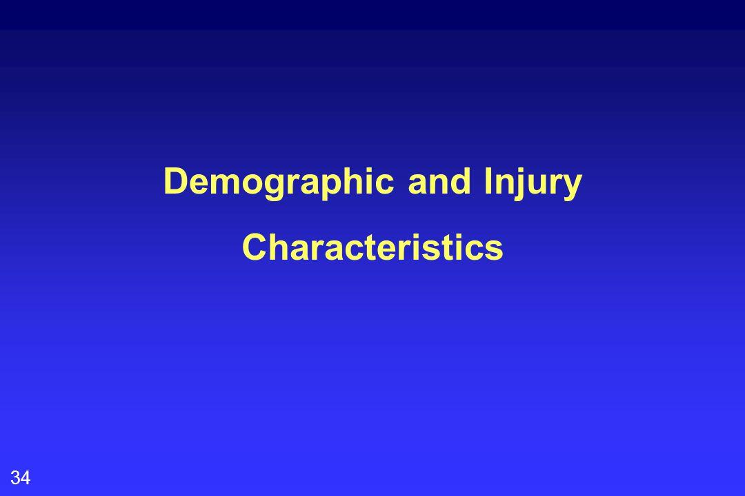 34 Demographic and Injury Characteristics