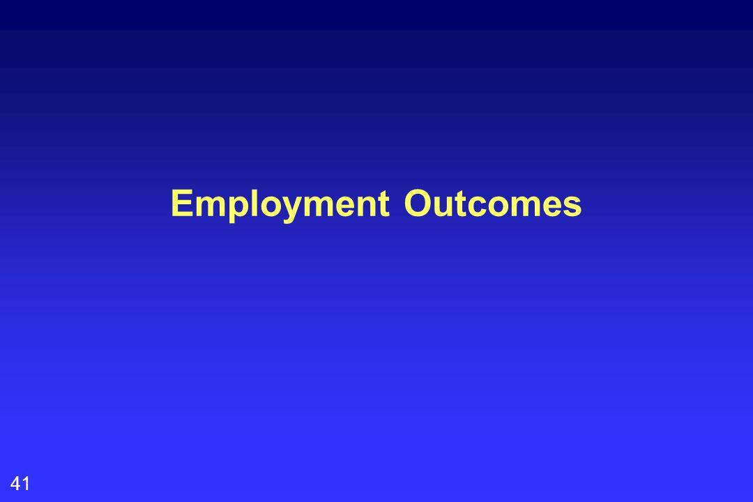 41 Employment Outcomes