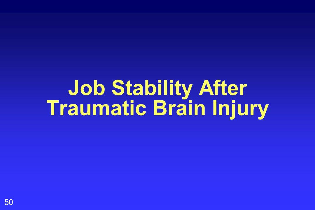 50 Job Stability After Traumatic Brain Injury