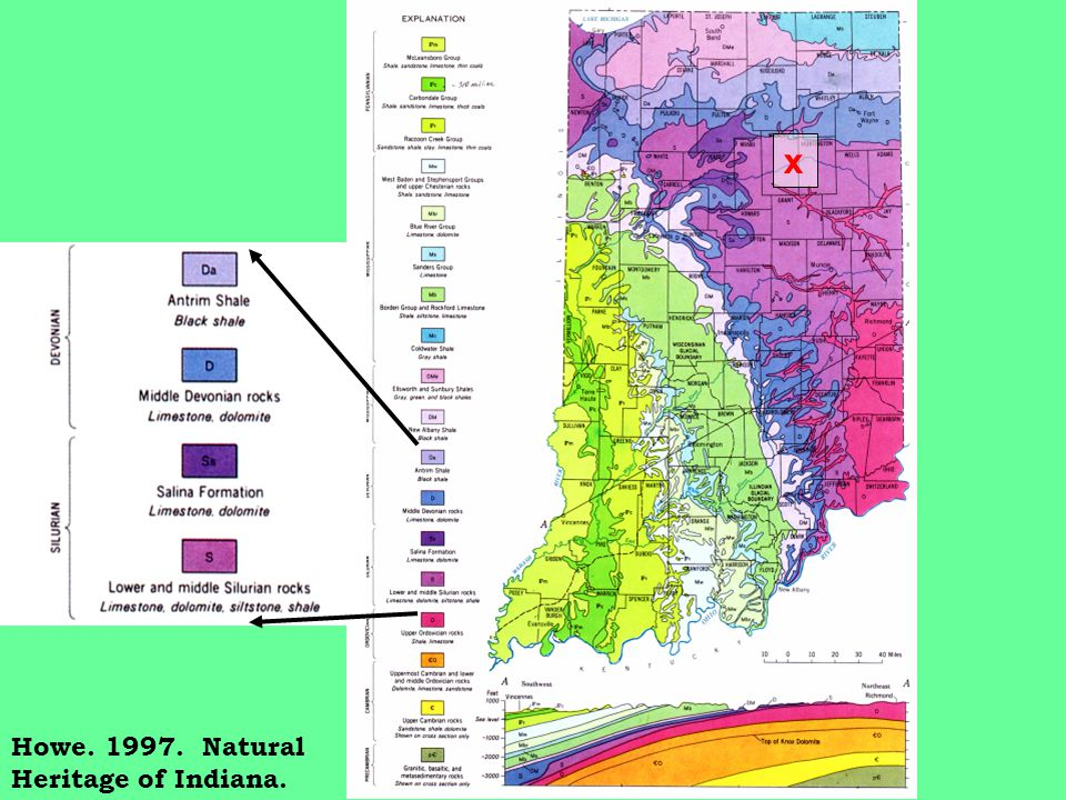 Melhorn. 1997. Natural Heritage of Indiana.