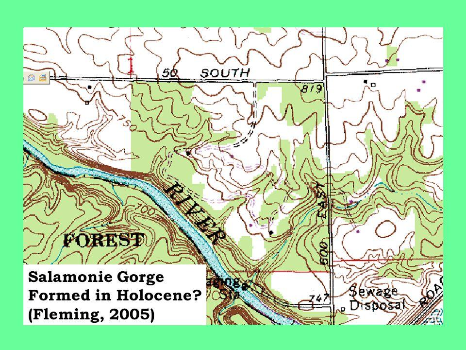 Salamonie Gorge Formed in Holocene (Fleming, 2005)
