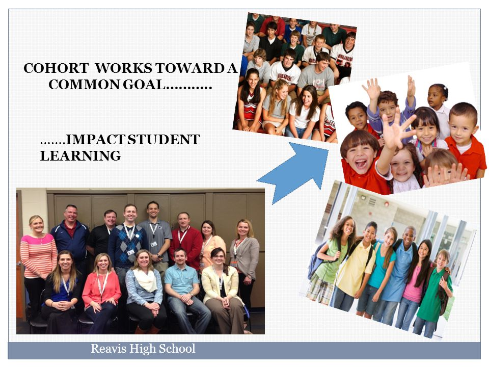 COHORT WORKS TOWARD A COMMON GOAL……….. …….IMPACT STUDENT LEARNING Reavis High School