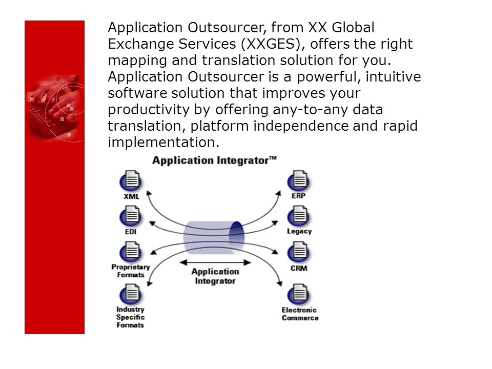 Application Outsourcer, from XX Global Exchange Services (XXGES), offers the right mapping and translation solution for you.