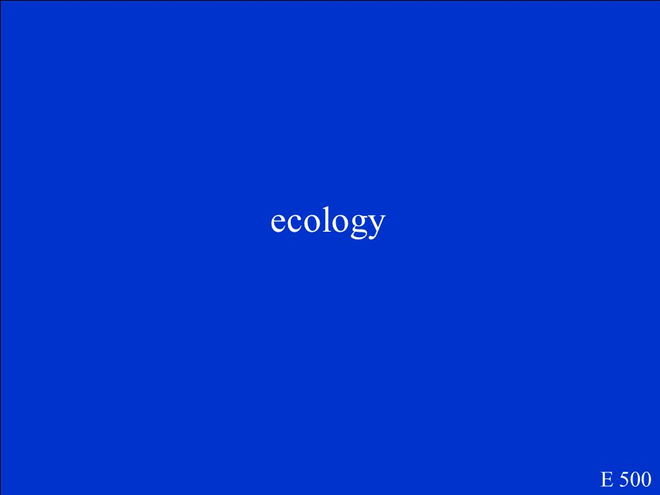 The study of interactions that occur among organisms and their environment is called ____________________.