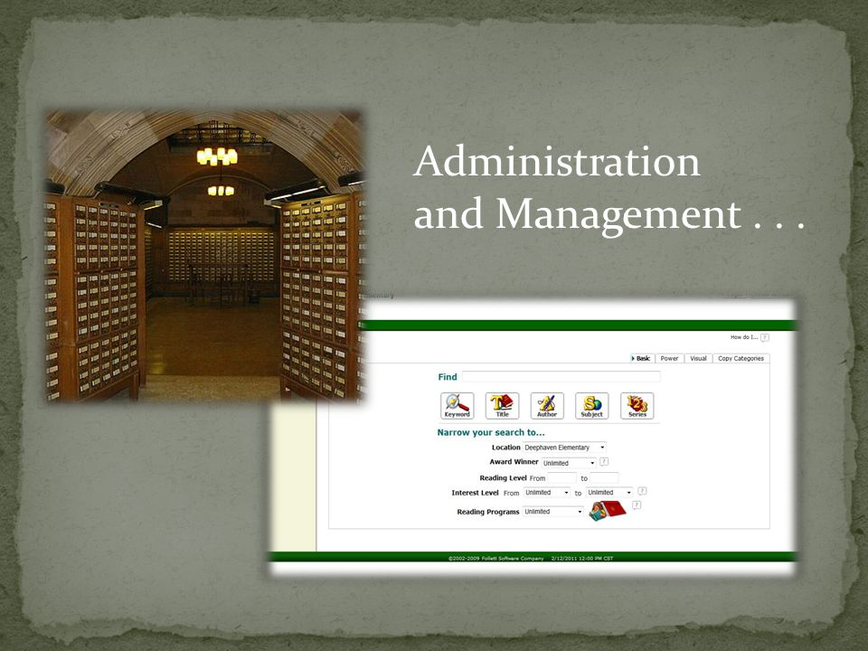 Administration and Management...