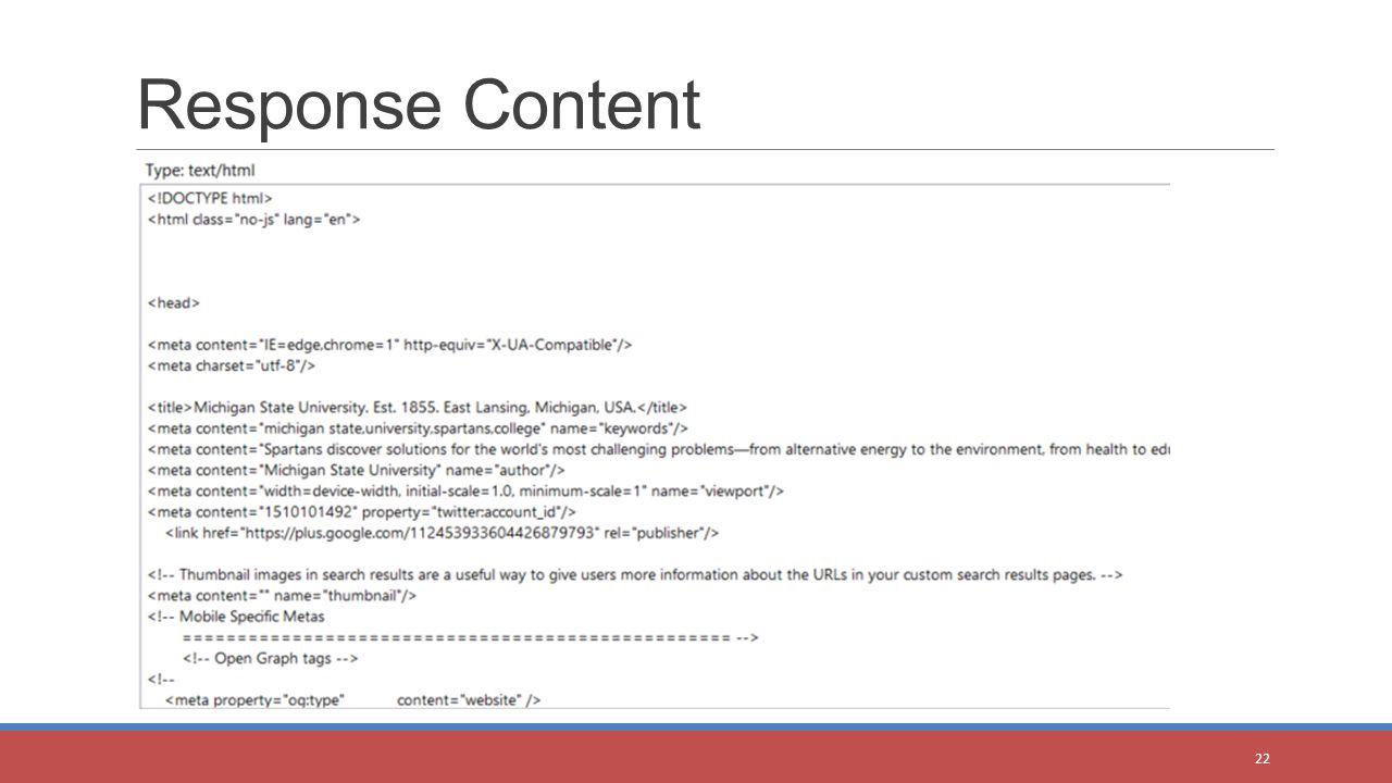 Response Content 22