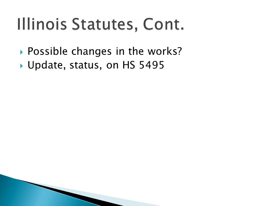  Possible changes in the works?  Update, status, on HS 5495