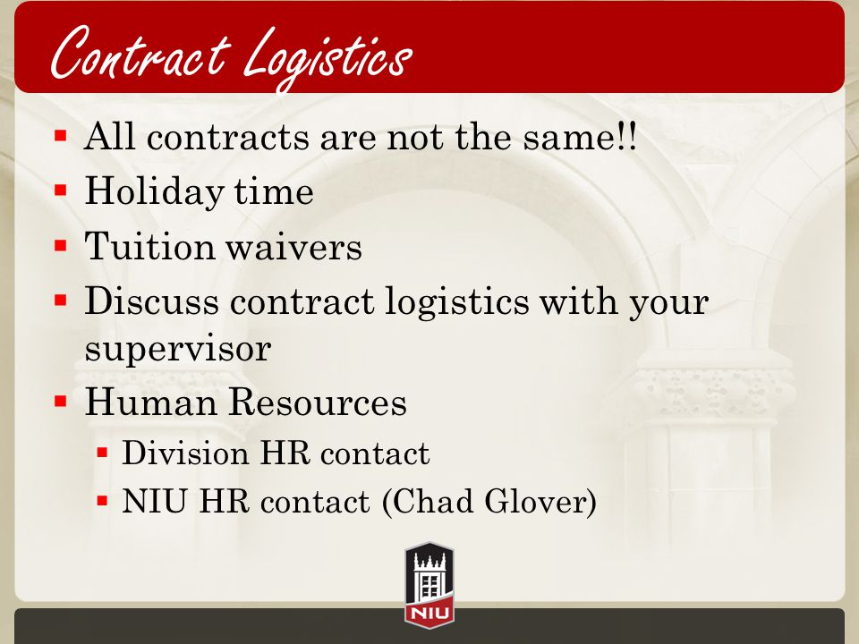 Contract Logistics  All contracts are not the same!.