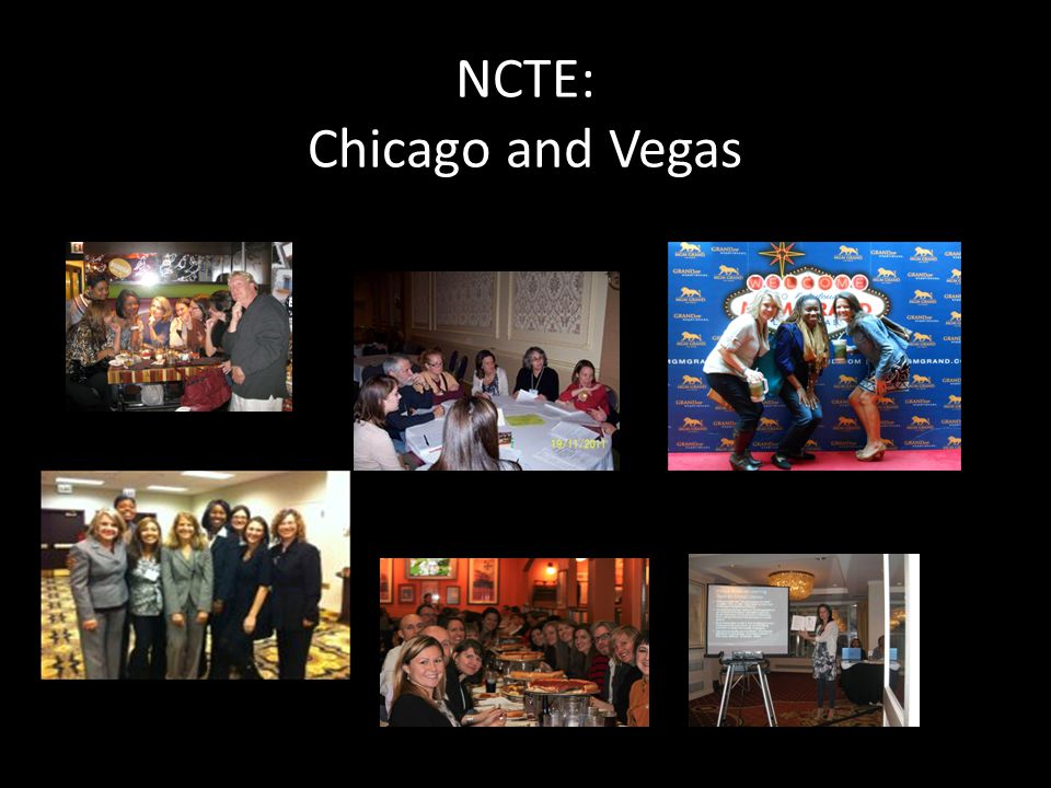 NCTE: Chicago and Vegas