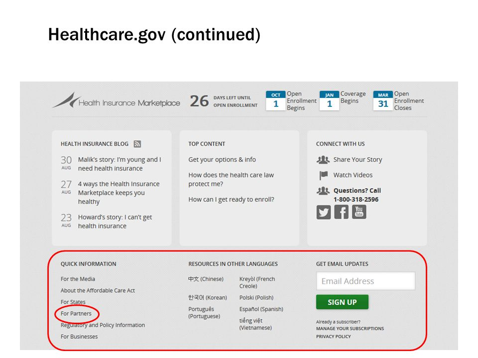 Healthcare.gov (continued)