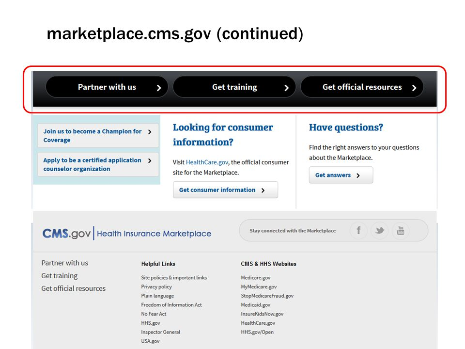 marketplace.cms.gov (continued)
