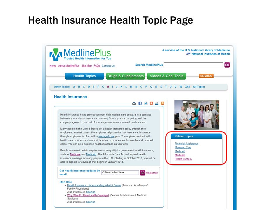 Health Insurance Health Topic Page