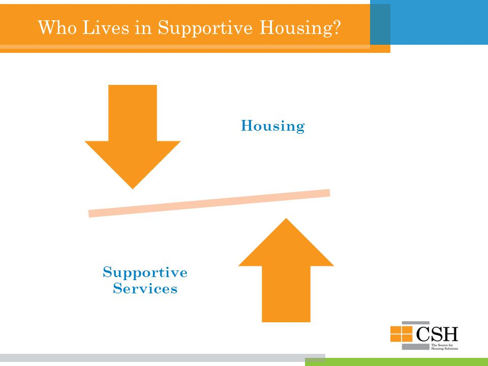 Who Lives in Supportive Housing Housing Supportive Services