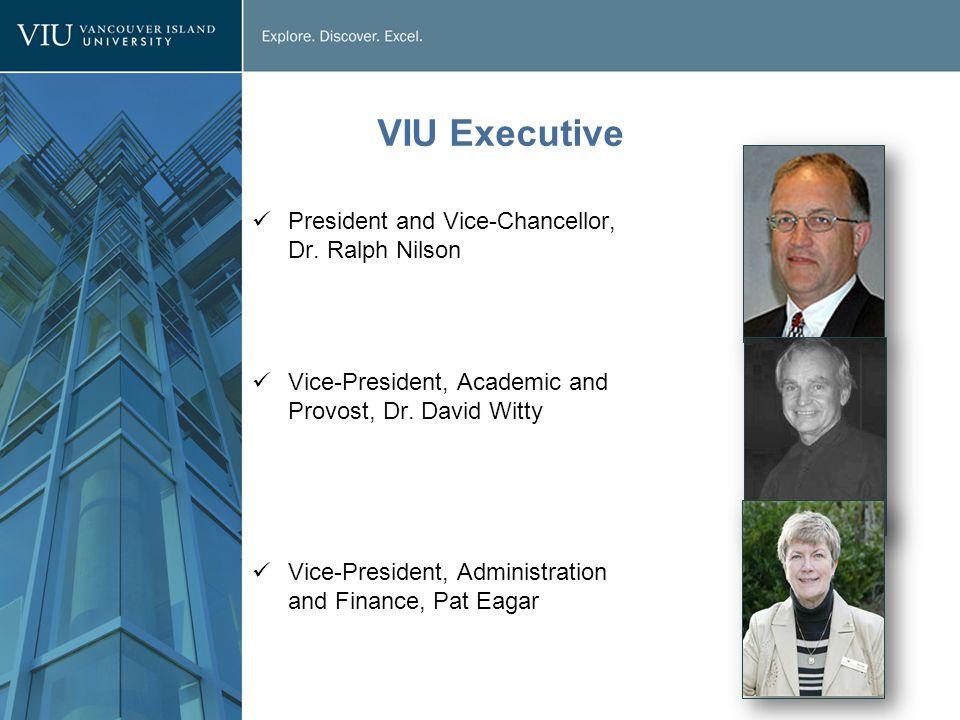 VIU Executive President and Vice-Chancellor, Dr.