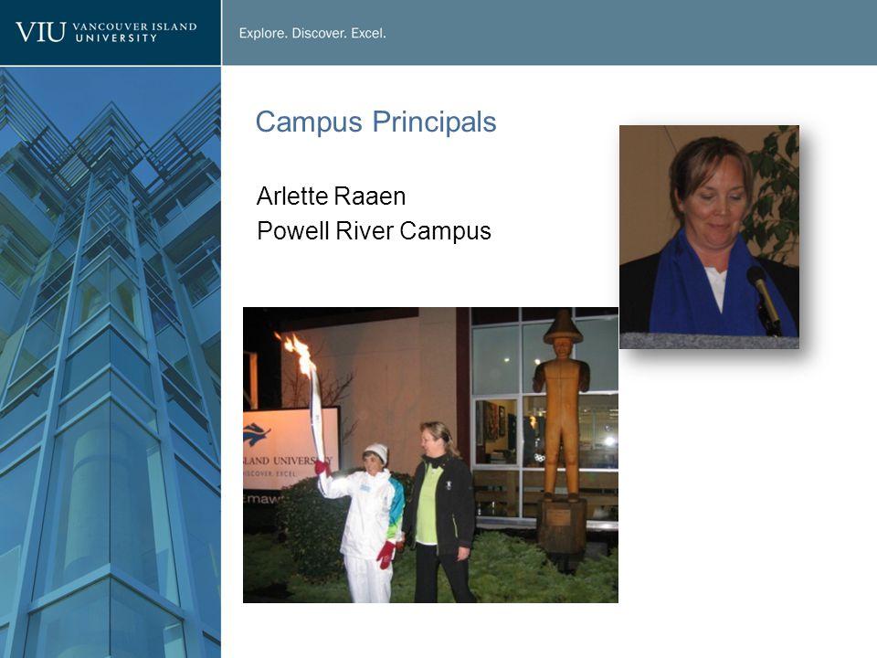 Campus Principals Arlette Raaen Powell River Campus
