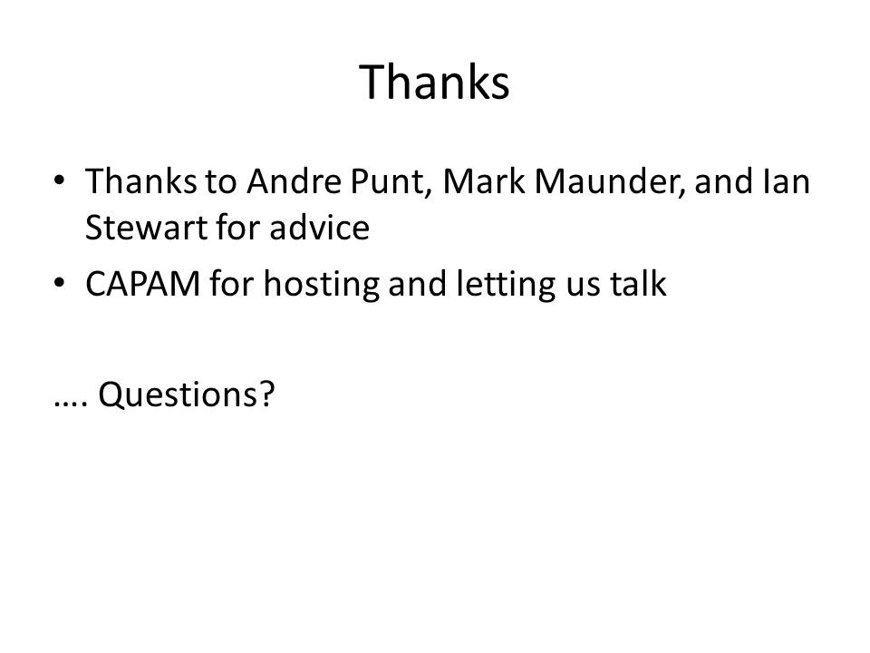 Thanks Thanks to Andre Punt, Mark Maunder, and Ian Stewart for advice CAPAM for hosting and letting us talk ….