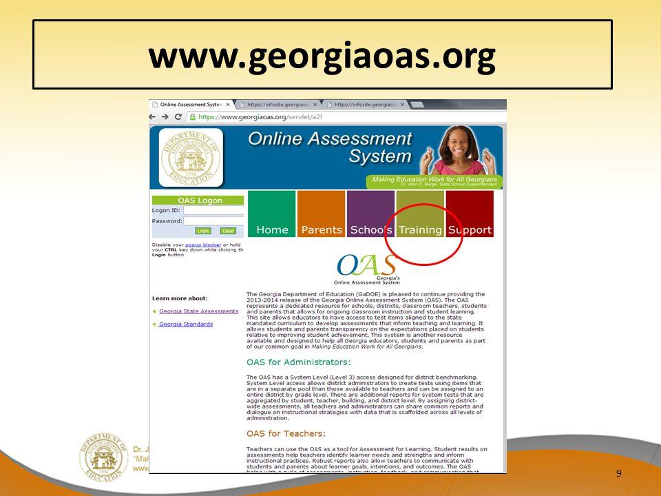 www.georgiaoas.org 9