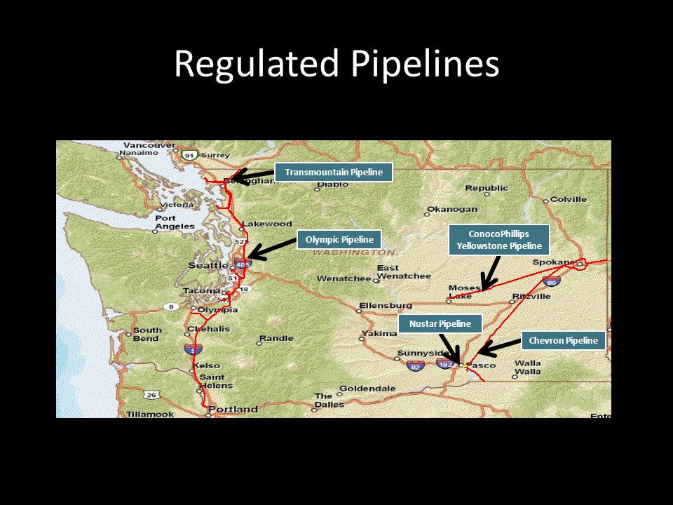 Regulated Pipelines Transmountain Pipeline Olympic Pipeline ConocoPhillips Yellowstone Pipeline Chevron Pipeline Nustar Pipeline