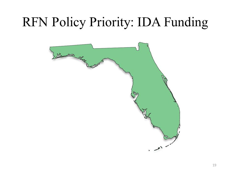 RFN Policy Priority: IDA Funding 19