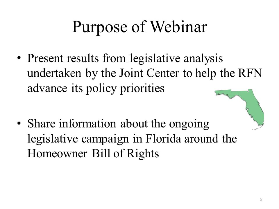 Passing/Defeating A Bill Legislation Process: Sponsor-Bill Drafting- Committee Assignments-House/Senate Floor- Signed by Governor-Becomes Law Our Role: Monitor- Legislative Visits- Legislative Delegation Meetings- Committee Testimonies-Commitments on Vote Our Role with Media: Press Conferences, OP Ed, Constituent Calls, Social Media 86