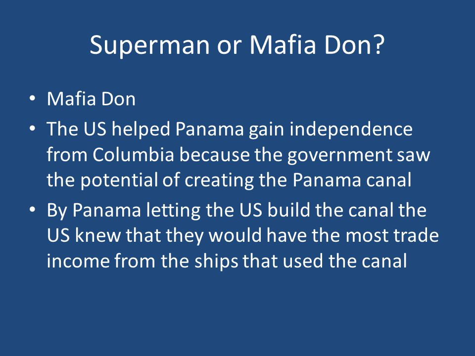 Superman or Mafia Don.