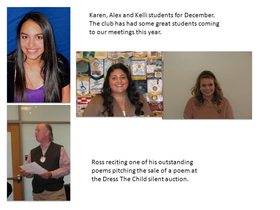Karen, Alex and Kelli students for December.