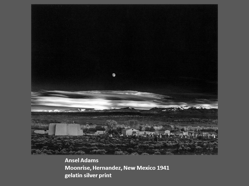 Ansel Adams Moonrise, Hernandez, New Mexico 1941 gelatin silver print
