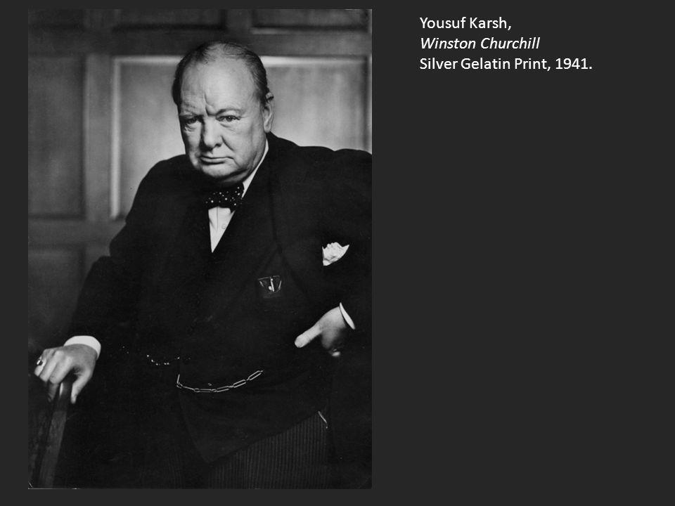 Yousuf Karsh, Winston Churchill Silver Gelatin Print, 1941.