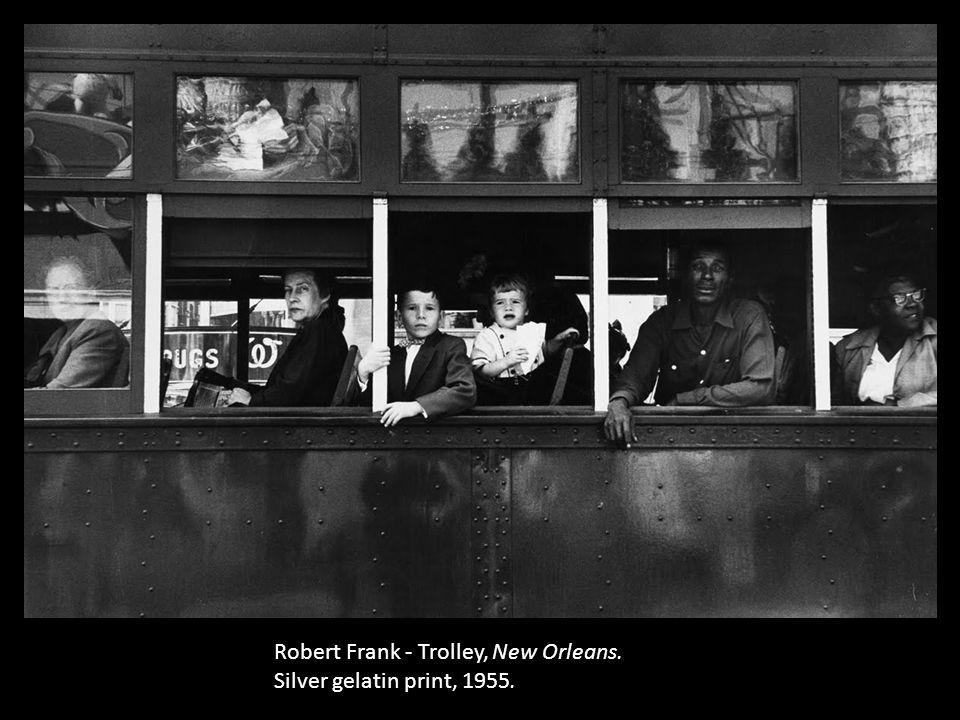 Robert Frank - Trolley, New Orleans. Silver gelatin print, 1955.
