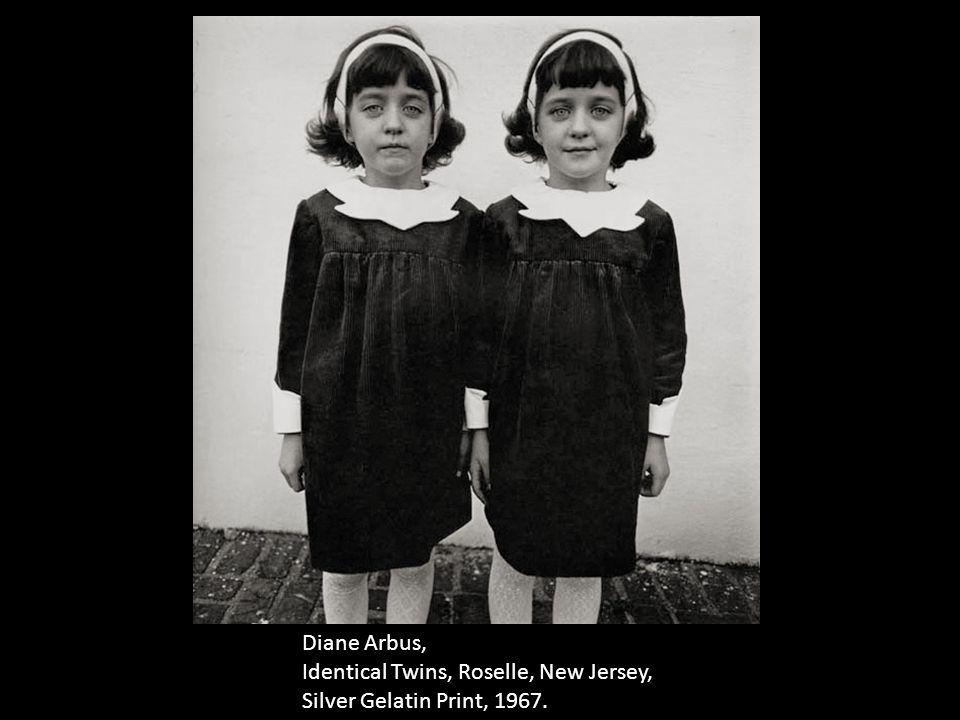 Diane Arbus, Identical Twins, Roselle, New Jersey, Silver Gelatin Print, 1967.