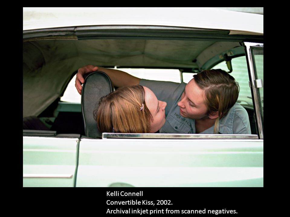 Kelli Connell Convertible Kiss, 2002. Archival inkjet print from scanned negatives.