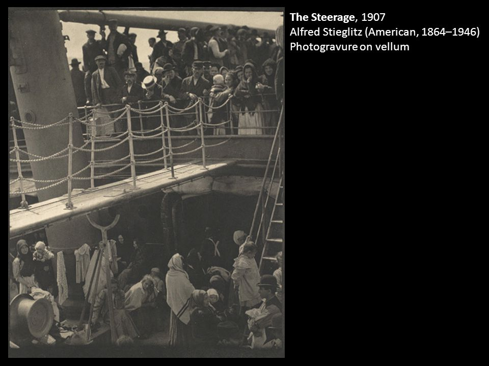 The Steerage, 1907 Alfred Stieglitz (American, 1864–1946) Photogravure on vellum