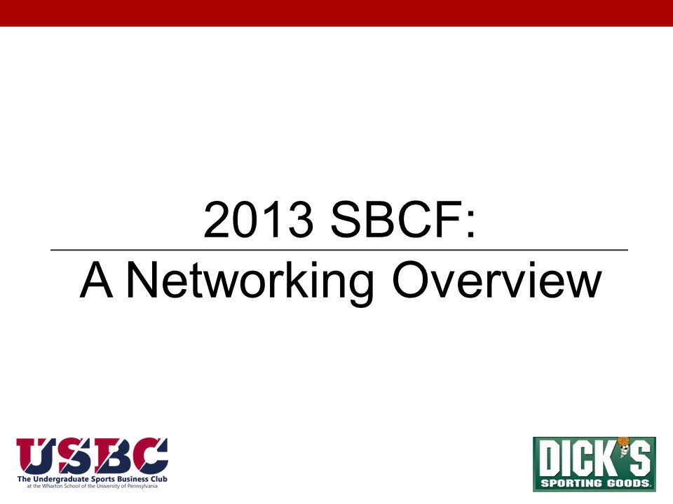 2013 SBCF: A Networking Overview