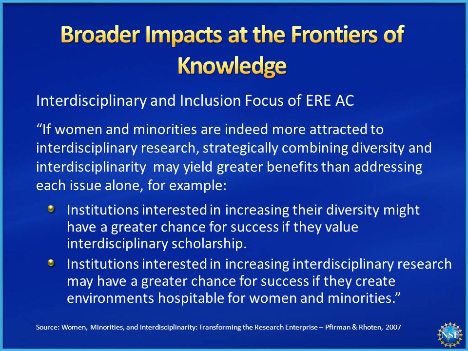 Institutions interested in increasing their diversity might have a greater chance for success if they value interdisciplinary scholarship.