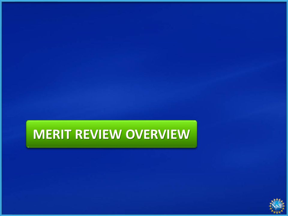 MERIT REVIEW OVERVIEW