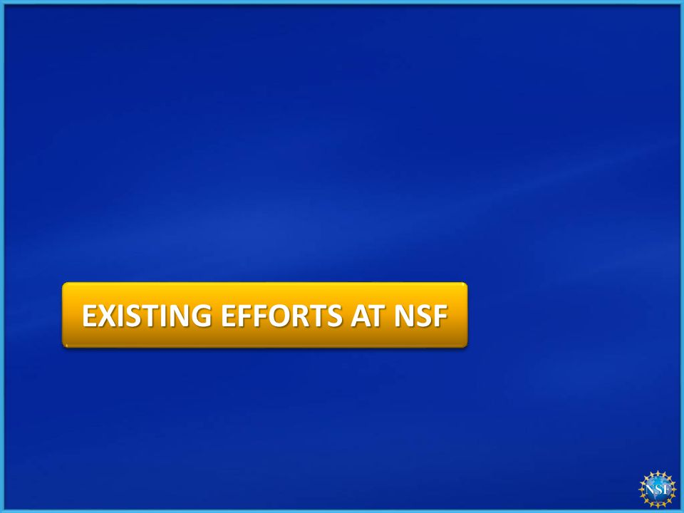EXISTING EFFORTS AT NSF