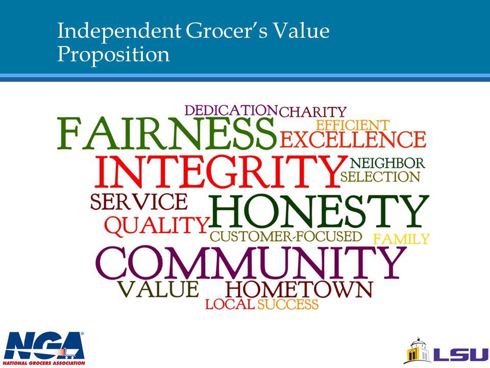 Independent Grocer's Value Proposition