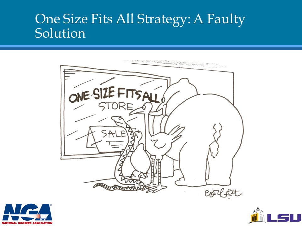 One Size Fits All Strategy: A Faulty Solution