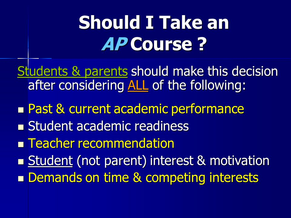 Should I Take an AP Course .