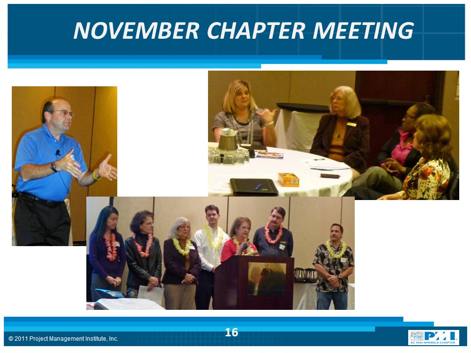 NOVEMBER CHAPTER MEETING 16