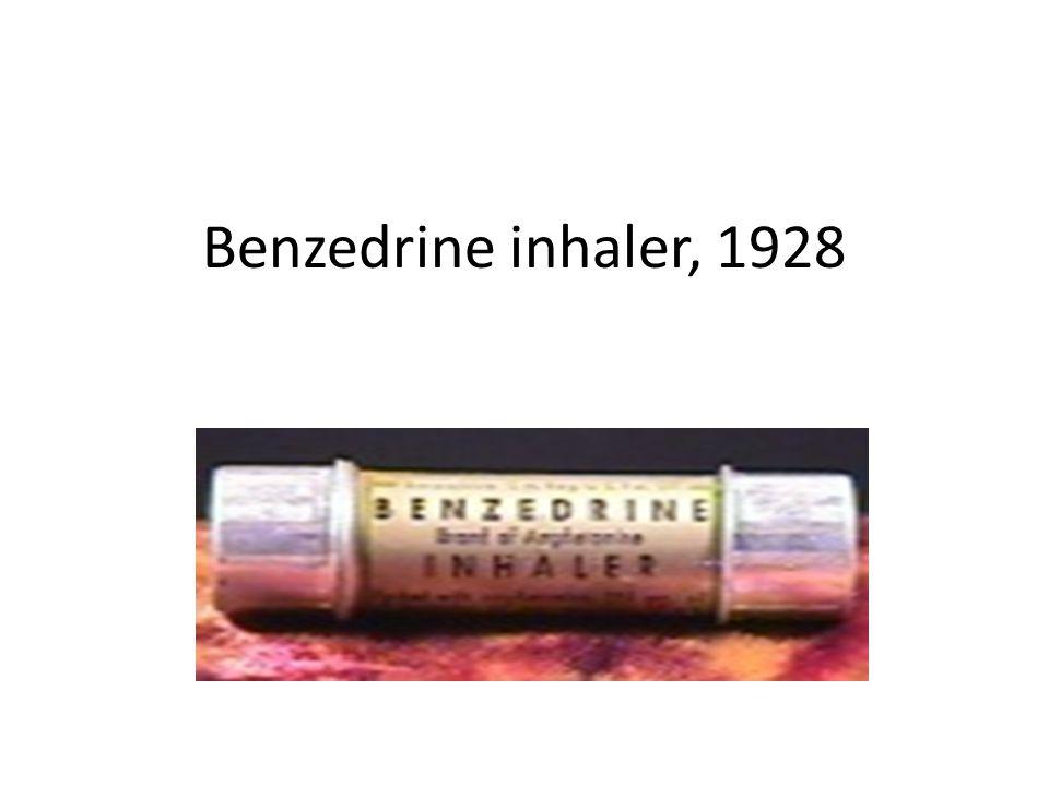 Benzedrine inhaler, 1928