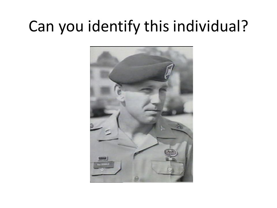 Can you identify this individual?