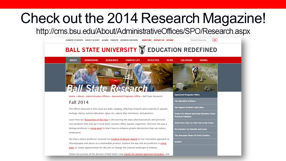 Check out the 2014 Research Magazine.