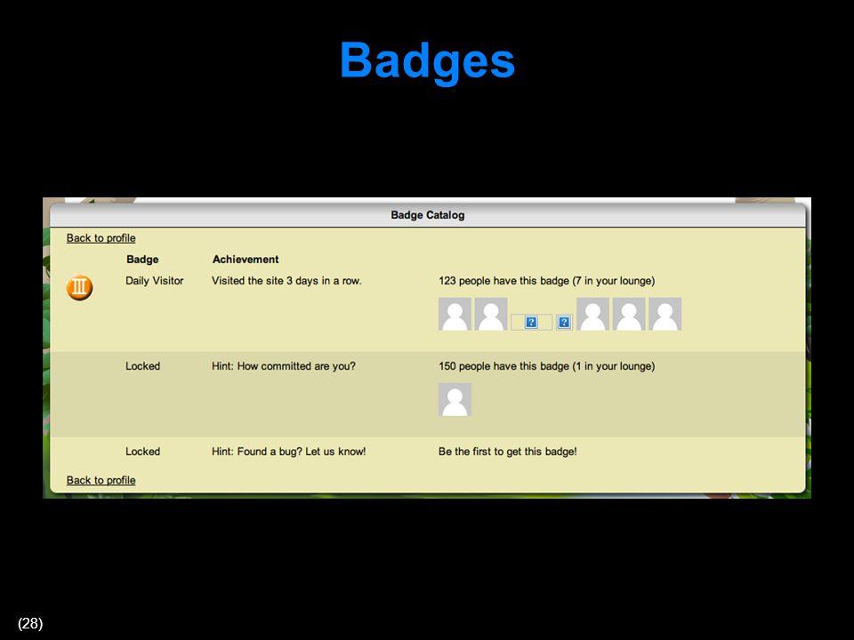 (28) Badges