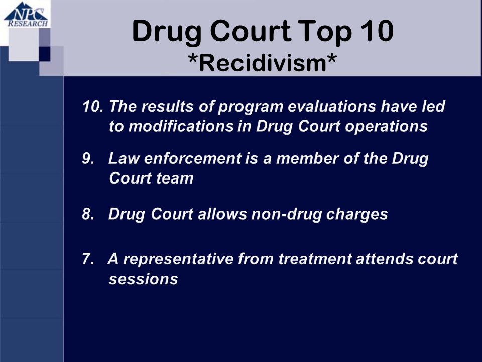Drug Court Top 10 *Recidivism*