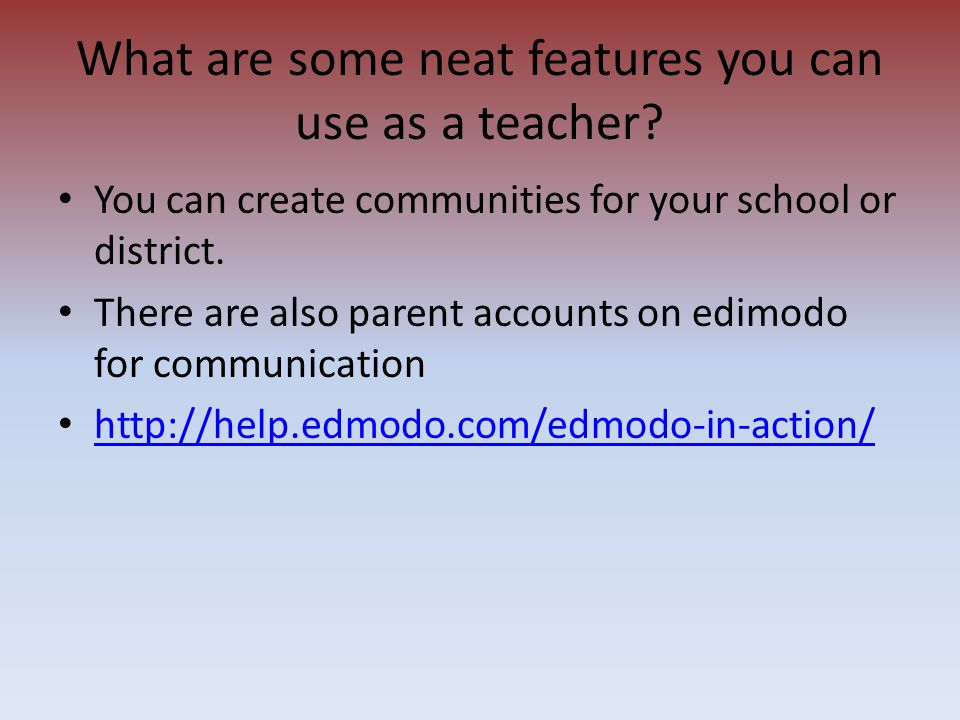 You can create communities for your school or district. There are also parent accounts on edimodo for communication http://help.edmodo.com/edmodo-in-a