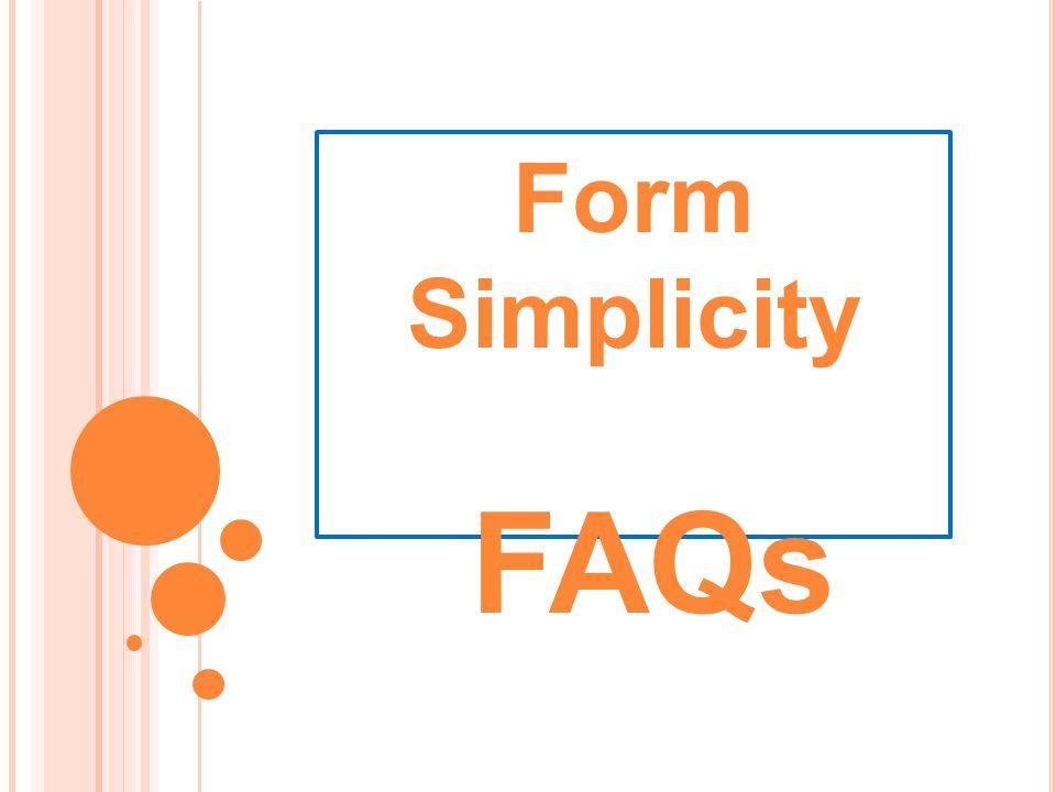 Form Simplicity FAQs