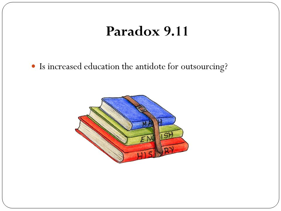 Paradox 9.11 Is increased education the antidote for outsourcing?